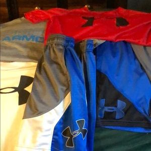 Under Armour Boys shorts and tee bundle